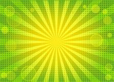абстрактная предпосылка яркая - зеленые лучи Стоковое Изображение RF