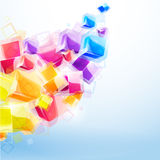 абстрактная предпосылка 3d яркая Стоковое Изображение