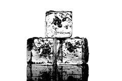 абстрактная предпосылка cubes льдед Стоковая Фотография