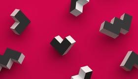 Абстрактная предпосылка Minimalistic 3D Стоковое фото RF