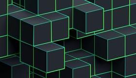 Абстрактная предпосылка Minimalistic 3D Стоковая Фотография