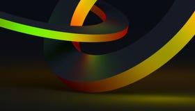 Абстрактная предпосылка Minimalistic 3D Стоковые Фотографии RF
