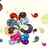 абстрактная предпосылка paisley Стоковое Фото