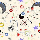 Абстрактная предпосылка surrealoist, причудливые красочные формы, безшовная картина 18-47 Стоковое Изображение RF