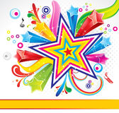 абстрактная предпосылка цветастая взрывает звезду Стоковая Фотография