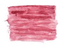 Абстрактная предпосылка акварели с бургундским цветом Стоковые Фотографии RF