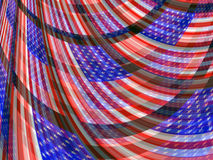 Абстрактная предпосылка американского флага США патриотическая пропуская Стоковые Фотографии RF