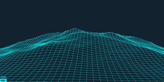 Абстрактная предпосылка ландшафта вектора Стоковые Изображения RF