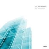 Абстрактная предпосылка архитектуры, шаблон брошюры плана, абстрактный состав архитектуры конструируйте геометрическое Стоковая Фотография RF