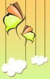 Абстрактная предпосылка бабочки Стоковая Фотография RF