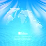 Абстрактная предпосылка бинарного кода с картой мира Стоковые Фото