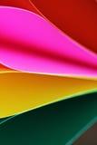 Абстрактная предпосылка бумажного стога defocused красочная Стоковое Фото