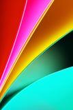 Абстрактная предпосылка бумажного стога defocused красочная Стоковая Фотография RF