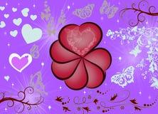 Абстрактная предпосылка валентинки иллюстрация штока
