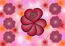 Абстрактная предпосылка валентинки стоковое изображение rf