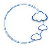 Абстрактная предпосылка веб-дизайна с облаками. Стоковая Фотография RF