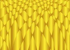 Абстрактная предпосылка вектора волны цвета золота Стоковые Фото