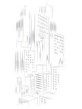 Абстрактная предпосылка вектора города шаблона Стоковое Фото