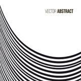 абстрактная предпосылка волнистая черная белизна картины Стоковые Фотографии RF