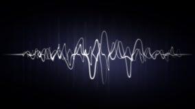 Абстрактная предпосылка волны с неоновыми влияниями Стоковая Фотография RF