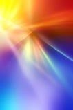 Абстрактная предпосылка в голубых, красных, желтых, оранжевых, фиолетовых цветах Стоковое Изображение