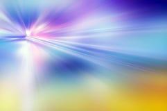 Абстрактная предпосылка в голубых, фиолетовых и желтых цветах Стоковые Изображения RF