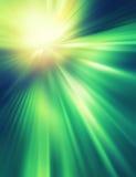 Абстрактная предпосылка в зеленых и желтых цветах Стоковая Фотография RF