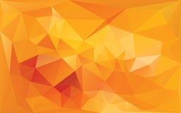 Абстрактная предпосылка в цветах желт-апельсина Стоковая Фотография RF