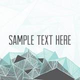 абстрактная предпосылка геометрическая Квадратная рамка для вашего текста Стоковое Фото