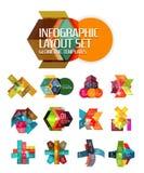 Абстрактная предпосылка, геометрические infographic шаблоны варианта бесплатная иллюстрация