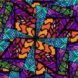 Абстрактная предпосылка геометрических картин Стоковая Фотография