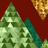 Абстрактная предпосылка горы вектора с объектом треугольника Стоковые Фото