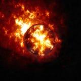 Абстрактная предпосылка горящих планеты или солнца apish планета апокалипсиса взрывая бесплатная иллюстрация