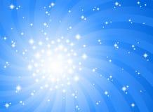 Абстрактная предпосылка голубой звезды Стоковая Фотография RF