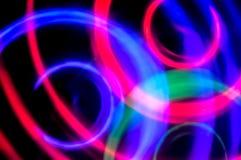 абстрактная предпосылка Голубые, зеленые и фиолетовые круги Стоковые Фото
