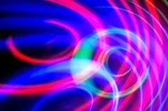абстрактная предпосылка Голубые, зеленые и фиолетовые круги Стоковые Фотографии RF