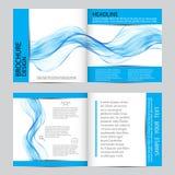 Абстрактная предпосылка, голубые прозрачные, который развевали линии Волна дыма волнисто бесплатная иллюстрация
