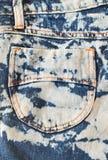 Абстрактная предпосылка голубых джинсов grunge карманная Стоковые Изображения