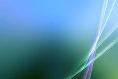 Абстрактная предпосылка голубых/зеленого цвета рассвета влияния Стоковая Фотография RF