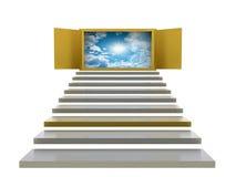 Абстрактная предпосылка лестниц Стоковое Фото