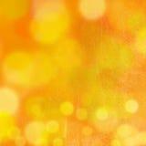 Абстрактная предпосылка лета с желтым bokeh стоковые изображения