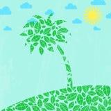Абстрактная предпосылка лета с пальмой. Стоковое Изображение RF