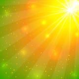 Абстрактная предпосылка лета с светами Стоковое фото RF