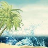 Абстрактная предпосылка летних каникулов Стоковые Изображения