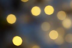 Абстрактная предпосылка запачканных кругов bokeh желтого света Стоковое Изображение