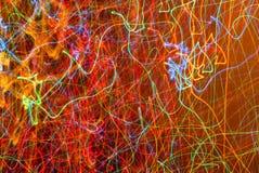 Абстрактная предпосылка запачканных световых лучей Стоковая Фотография
