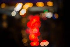 Абстрактная предпосылка запачканных светов с влиянием bokeh Стоковая Фотография