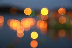Абстрактная предпосылка запачканных теплых светов Стоковое Изображение