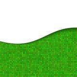 Абстрактная предпосылка зеленой волны с нашивками иллюстрация штока