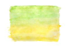 Абстрактная предпосылка зеленых/желтого цвета акварели Стоковые Изображения